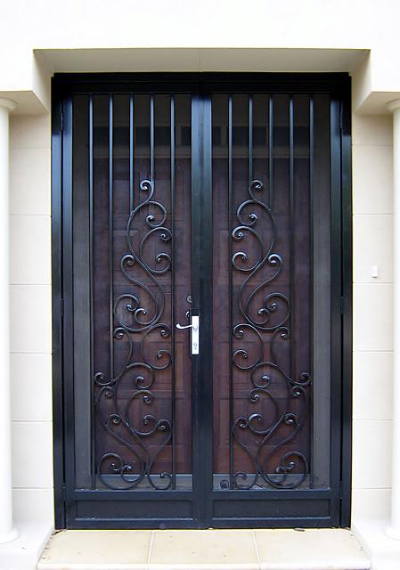 Security Door Style Scroll